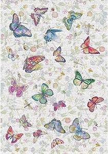 Vilber Kids Farfalle Tappeto, Vinile, Multicolore, 100x 153x 0.2cm