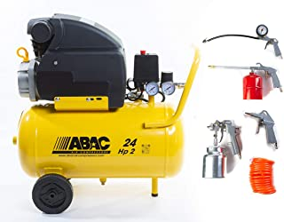 ABAC Luftkompressor Art. ABAC 1129100008 Liter 24 Position 8 bar HP2 mit Set 5 Stück Art. ABAC 8973005547 neues Modell  OK