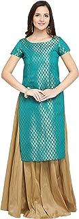 OOMPH! Women's Silk a-line Salwar Suit Set