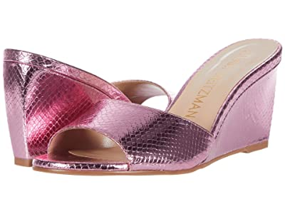 Stuart Weitzman Larunda (India Pink Mini Print Metallic Snake) Women