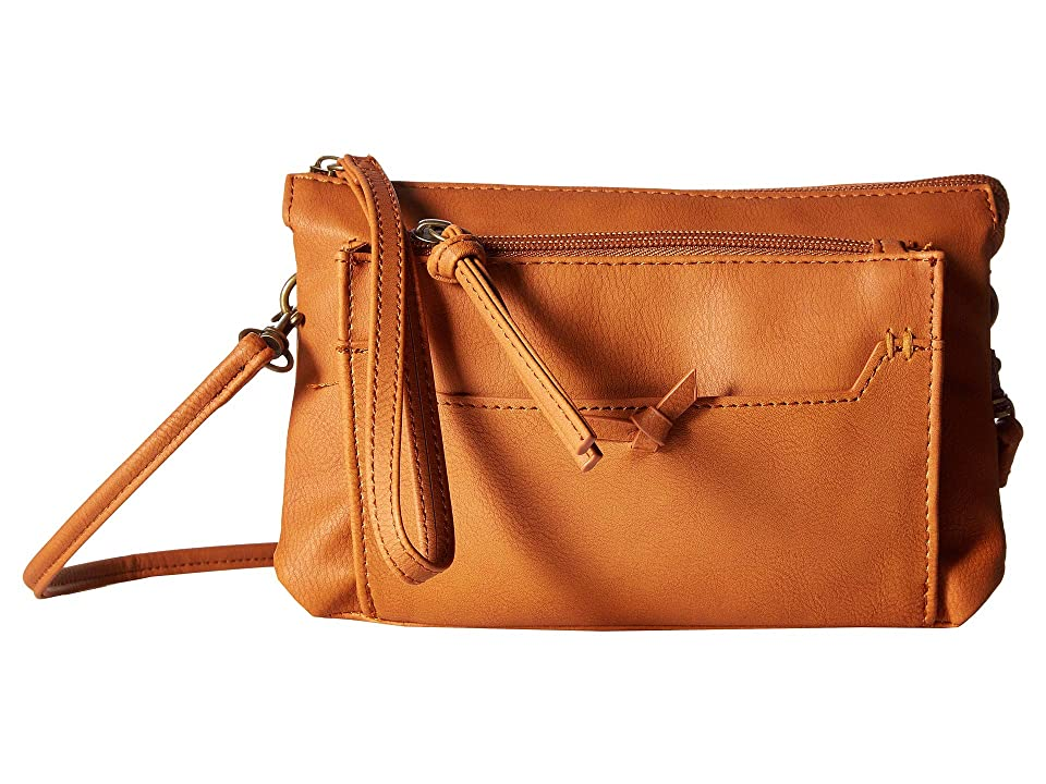T-Shirt & Jeans Three-Way Wristlet/Crossbody/Belt Bag (Cognac) Handbags