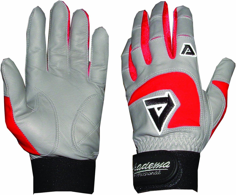Akadema Professional Batting Gloves-Grey/Red