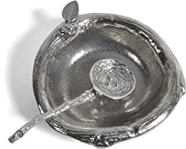 product image for Crosby & Taylor Pewter 2.5-inch Salt Dish with Bird's Nest Spoon