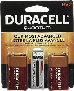 Bateria alcalina de 9 volts Duracell 665211, pacote com 2