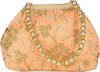 Indische Potli-Tasche aus Seide, ethnisch, mit Handarbeit.