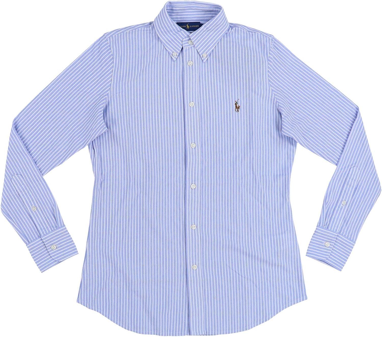 Polo Ralph Lauren - Camisa Oxford de Punto para Mujer