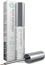 Suvi Naturals Lash & Eyebrow Serum – Achieve Luscious Length and Thicker, Fuller Growth – Natural Formula with Vitamin E & Arginine, 0.17 lf. oz