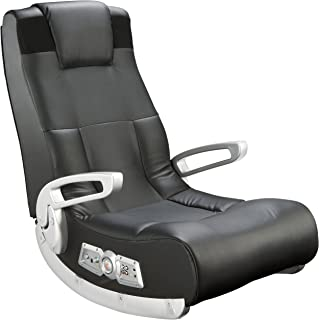 Ace Bayou X Rocker II SE 2.1 Black Leather Floor Video Gaming Chair for Adult, Teen, and..