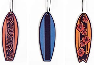 Cool Surfboards Car Air Fresheners 3 Pack Scented with Essential Oils (3)