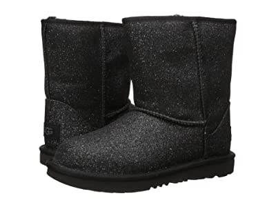 UGG Kids Classic Short II Glitter (Little Kid/Big Kid) (Black 1) Girls Shoes