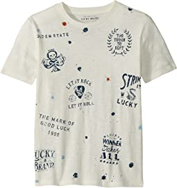 Lucky Brand Kids - Paint Splatter Short Sleeve Tee (Little Kids/Big Kids)