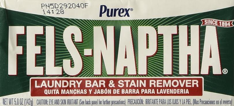 篭僕の失望Fels Naptha Laundry Soap Bar & Stain Remover - 5.0 Oz per bar by Fels Naptha