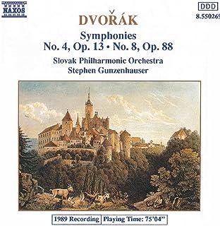 Dvorak: Symphonies Nos. 4 And 8