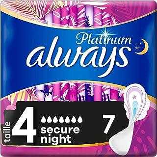Always Platinum Secure Night Taille4 Serviettes Hygiéniques avec Ailettes
