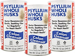 Yerba Prima Psyllium Whole Husks, 12-Ounce (Pack of 3)