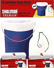 Shalimar Premium Garbage Bags (Large) Size 60 cm x 81 cm 4 Rolls (60 Bags) (White Color)