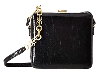 Sam Edelman Alice Cube Shoulder Bag (Black) Handbags