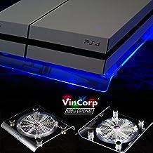 """VinCorp ® USB Design Kühler """" Blau """" LED 19cm Lüfter & Ständer Stand.."""