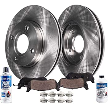 Brake Rotor and Carbon-Fiber Ceramic Brake Pads Power Stop K15194DK Z23 Evolution Sport Front /& Rear Brake Kit