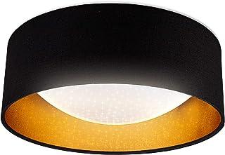 B.K.Licht lampa sufitowa LED, wbudowana płyta LED 12 W, neutralna biel 4000 K, 1200 lm, Ø 30 cm, błyszczący efekt świetln...