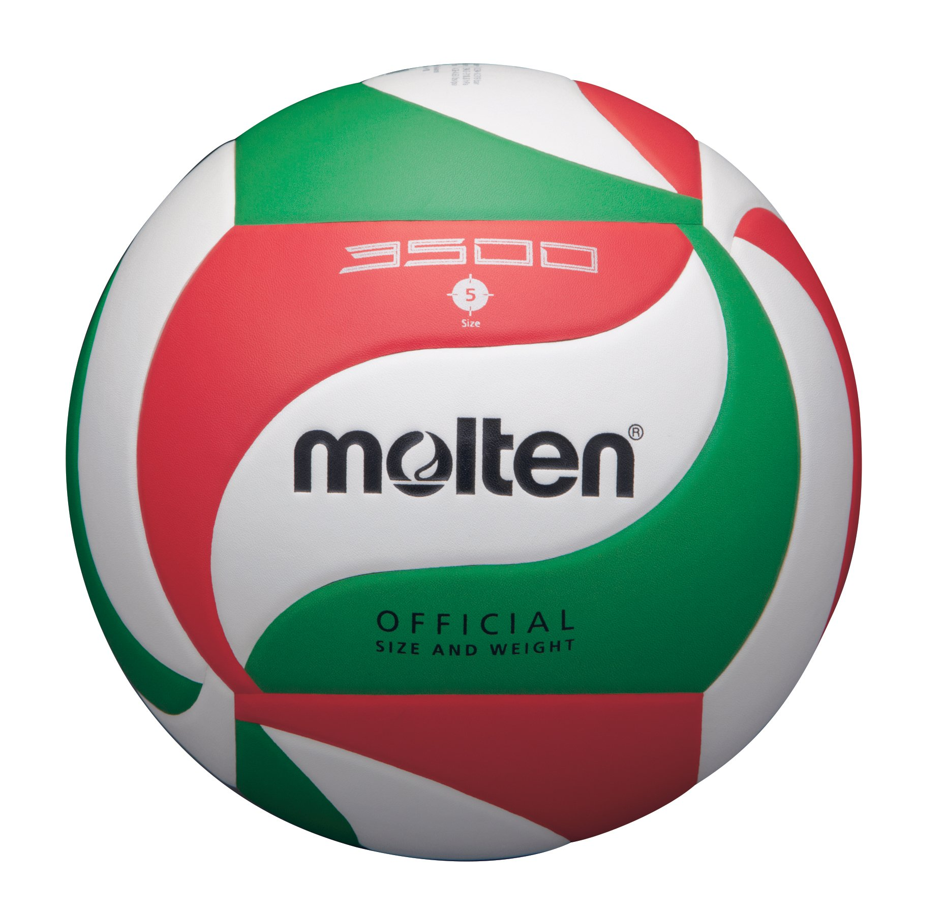 MOLTEN - Balón de Voleibol Oficial (Talla 5), Color Blanco: Amazon ...