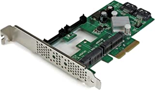 StarTech.com 2 Port PCI Express 2.0 SATA III 6Gbps RAID Controller Card w/ 2 mSATA Slots & HyperDuo SSD Tiering - PCIe SAT...