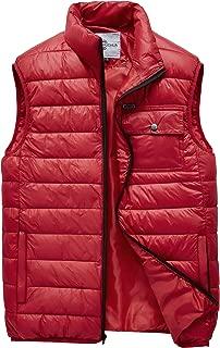 Men's Warm Puffer Vest Outdoor Lightweight Padded Thick Vest