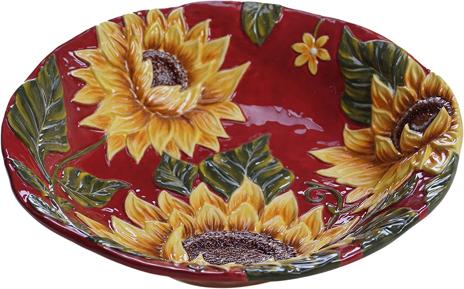 Certified International Sunset Sunflower Serving Bowl, 13 ,One Size, Multicolord