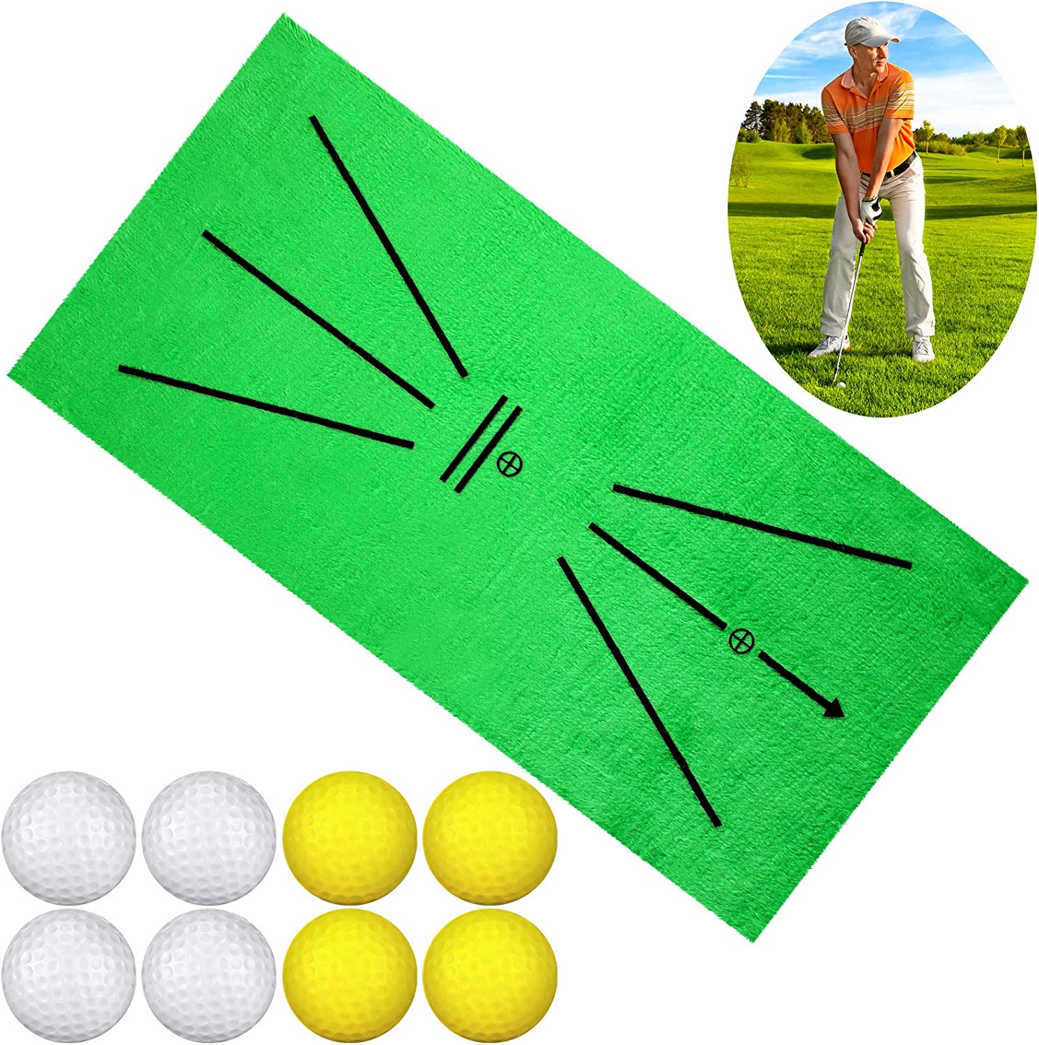 Golf Training Set Include 1 4 Trai New life Department store Mat Yellow