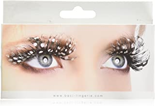 Baci Paradise Dreams Style No.607 Brown Feather Eyelashes with Adhesive Included, Brown