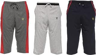 VIMAL Jonney Multicolor Cotton Capris for Men(Pack of 3)-C7AN_C8ML_C5NV_03-P