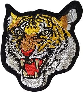Tiger Cat Puma Jaguar Animal Wildlife Head Iron on Patches Embroidered