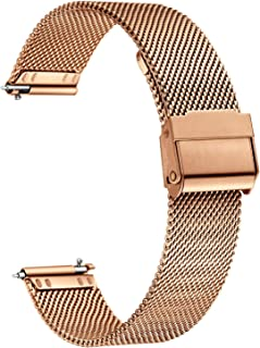 XIRUVE Quick Release Stainless Steel Mesh Replacement Watch Band for Women Men 12-24mm