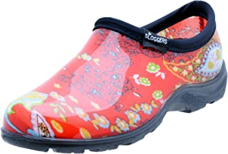 Sloggers Women's Waterproof Rain and Garden Shoe with Comfort Insole, Paisley Red, Size 7, Style 5104RD07