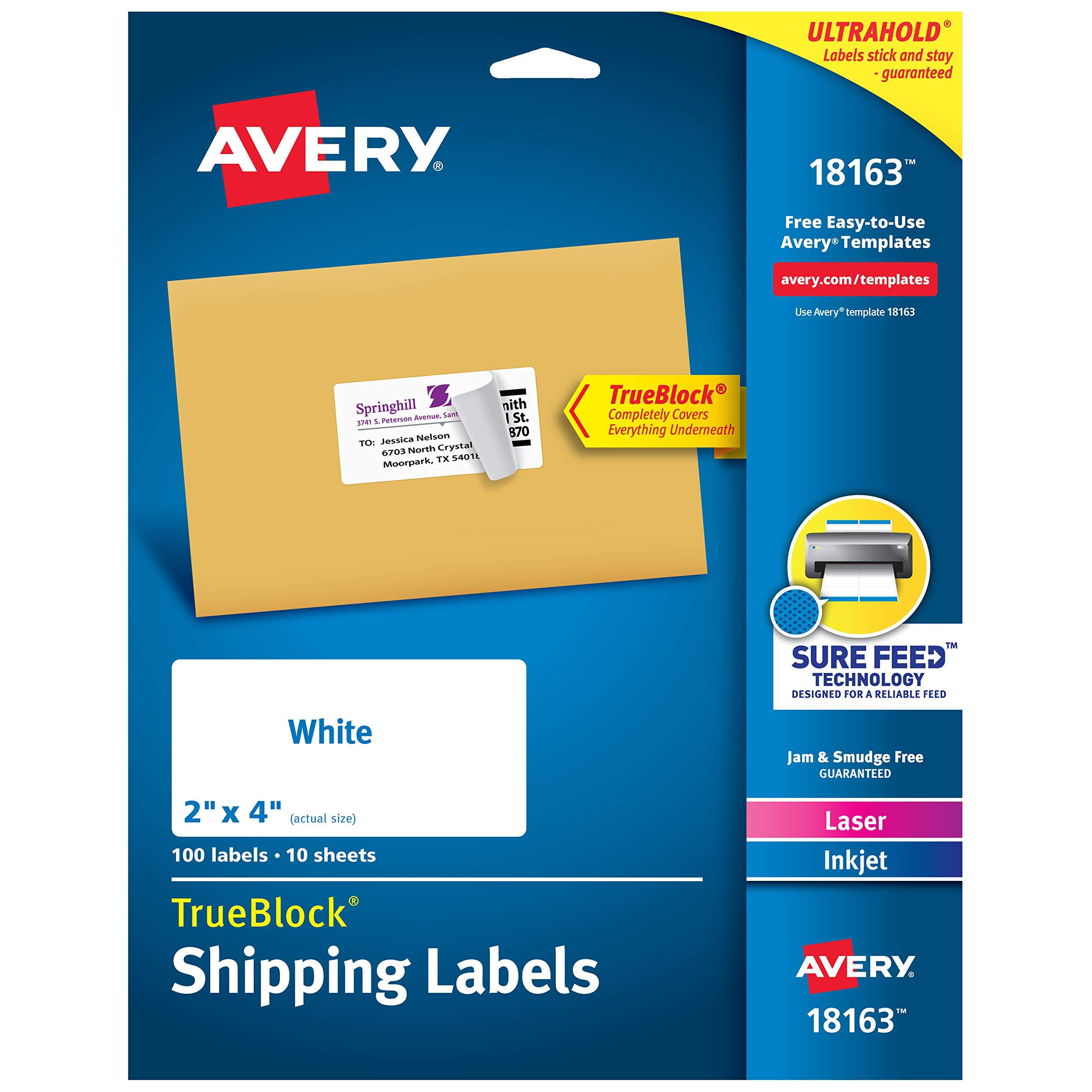 200 4x2 EcoSwift Laser//Ink Address Shipping Self-Adhesive Labels 10 per sheet