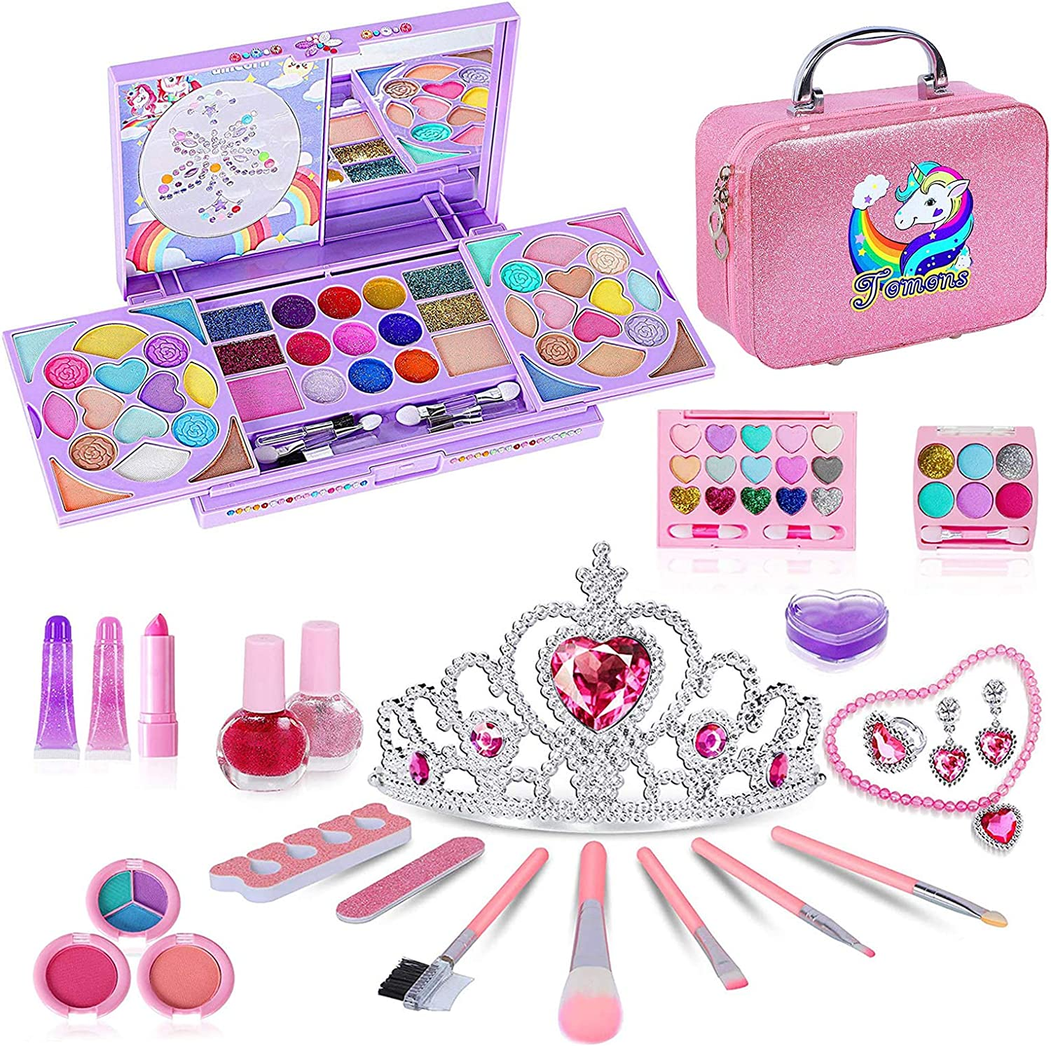 All items free shipping National products Tomons Kids Washable Makeup Kit Palette with Fold Out Mi