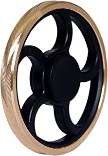 Tegion Fan Wheel Hands Fidget Spinner Toy –Light And Compact For Smaller Hands- Speed Bearing with 3 Min+ Spinning Time -Super Smooth durable ABS Frame and Precision Brass Material (Engraved Ring)