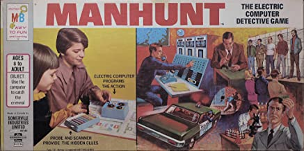 Vintage 1972 - MANHUNT - The Electric Computer Detective Game