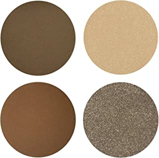 Coffee n Cream Eyeshadow Quad Palette - 4 Highly Pigmented Single Powder Eye Shadow Pans, Magnetic Refill 26mm, Professional Quality Makeup, Paraben and Gluten Free, Cruelty Free Cosmetics Made in USA