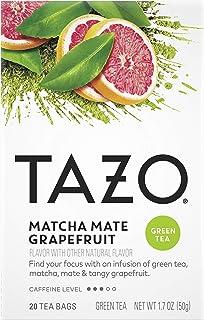 Tazo Tea Bags Matcha Mate Grapefruit 20ct, Pack of 6
