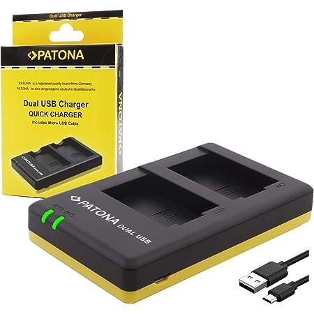 Patona 1927 - USB Dual Cargador para batería Sony NP-FZ100 a Sony Alpha ILCE 6600 Alpha 7 III Alpha 7c Alpha 7R III IV Alpha 9 9R 9S