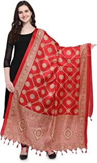 Kanchnar Women's Bhagalpuri Silk Printed Dupatta