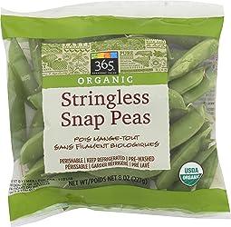 365 Everyday Value, Organic Stringless Snap Peas, 8 oz