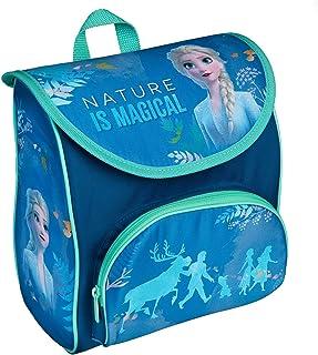 Disney Frozen II - Mochila de preescolar con cierre de velcro y correa para el pecho, ergonómica, ligera, aprox. 5 litros, color azul