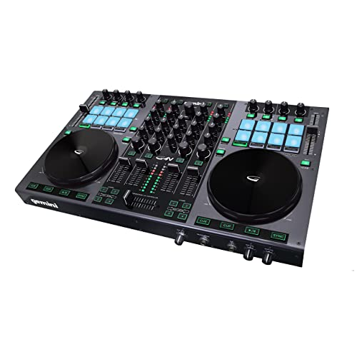 Gemini GV Series G4V Professional Audio 4-Channel MIDI Mappable Virtual DJ Controller with Touch
