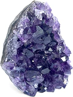 Deep Purple Project Large Amethyst Crystal Rock 1 to 2 lb Raw Clusters from Uruguay Quartz Geode (500 Grams to 850 Grams)