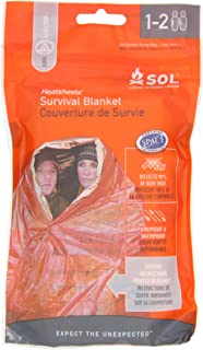 Adventure Medical Kits Sol Survival Blanket, Two Person, 3.2-Ounce (pack Of 2)