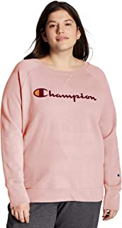 Champion Women's Plus Size Crewneck, Hush Pink, 4X