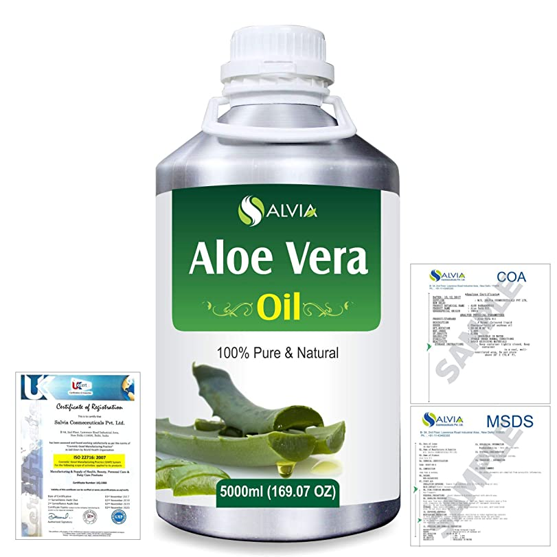 燃やすアクロバット宿泊Aloe Vera 100% Natural Pure Undiluted Uncut Carrier Oil 5000ml/169 fl.oz.