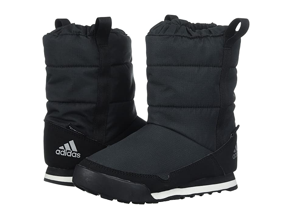 Image of adidas Outdoor Kids CW Snowpitch Slip-On CP (Little Kid/Big Kid) (Black/Black/Chalk White) Kid's Shoes